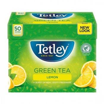 【Tetley】 Green Tea Lemon 50 Teabags<br>テトリー グリーンティー レモン: 50ティーバッグ