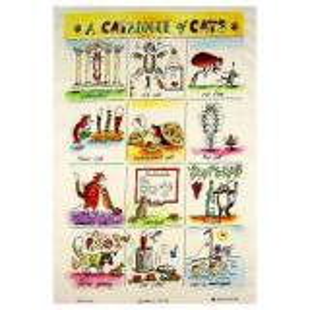【McCAW ALLAN】L/Union T.Towel Catalogue of Cats<br>リネンユニオンティータオル キャットカタログ