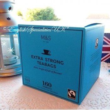 【M&S】Fairtrade ExtraStrong 160bags<br>マークス&スペンサー 紅茶 エクストラストロング:160バッグ