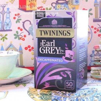【Twinings】 Earl Grey Tea DECAF<br>トワイニング アールグレイ **ディカフェ** :50ティーパック
