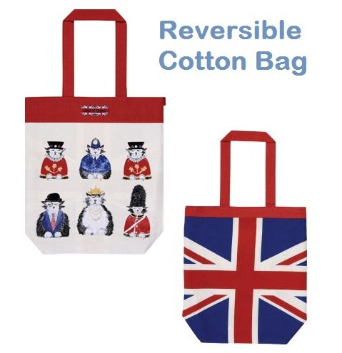 ★Sale!【Ulster Weavers】British Cats Reversible Cotton Bagアルスターウィーバー ブリティッシュ・キャッツ リバーシブルバッグ