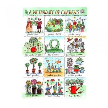 【McCAW ALLAN】L/Union T.Towel Dictionary of Gardens<br>リネンユニオンティータオル ガーデンズ