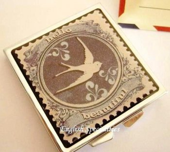 【Disaster Designs】 Paper Plane Compact Mirror<br>ペーパープレーン コンパクトミラー