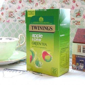 【Twinings】 Green Tea Apple&Pear<br>トワイニング グリーンティー アップル&ペア: 20バッグ