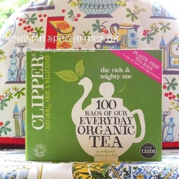 【Clipper】 Organic Tea<br>クリッパー オーガニック 紅茶 : 100 ティーバッグ