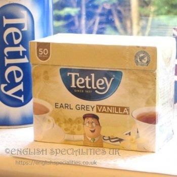 【Tetley】 Earl Grey & Vanilla テトリー紅茶 アールグレイ&バニラティー : 50ティーバッグ(新パッケージ)