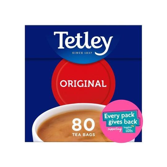【Tetley】 80 Teabags テトリー 紅茶 : 80 ティーバッグ