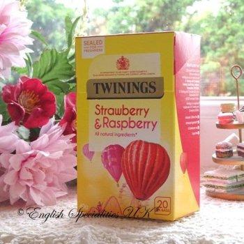 【Twinings】Strawberry & Raspberry<br>トワイニング ストロベリー& ラズベリー :20ティーバッグ