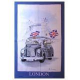 【McCAW ALLAN】London Taxi Tea Towel <br>マッコウ・アラン ロンドンタクシー リネンユニオンティータオル