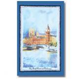 【Samuel Lamont】COTTON Tea Towel:Big Ben<br>サミュエル・ラモント ビッグベン コットンティータオル