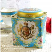 The Royal Collection Coat of Arms Tea Caddyロイヤルコレクション コートオブアームス キャディー50ティーバッグ