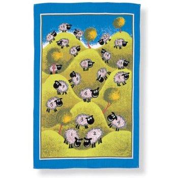 【Ulster Weavers】Counting Sheep Linen Tea Towel<br>カウンティングシープ リネンティータオル