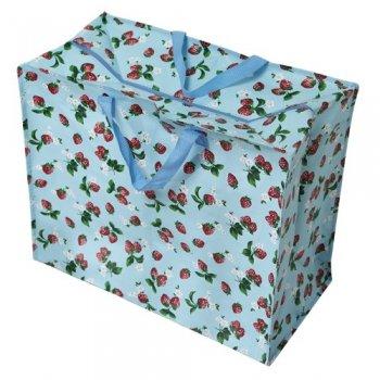 【dotcomgiftshop】Strawberry Design Jumbo Storage Bag<br>ストロベリーデザイン 収納用ジャンボバッグ