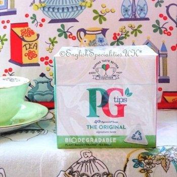 【PG Tips】 40 Teabags<br>ピージーティップス 紅茶 40ティーバッグ