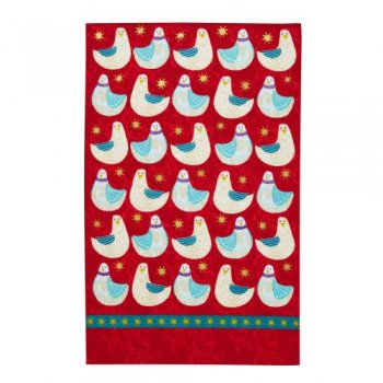 <img class='new_mark_img1' src='https://img.shop-pro.jp/img/new/icons47.gif' style='border:none;display:inline;margin:0px;padding:0px;width:auto;' />【Ulster Weavers】Christmas Dove Linen Tea Towel<br>クリスマス ダヴ リネンティータオル