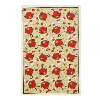 【Ulster Weavers】Red Robin Linen Tea Towel<br>レッドロビン リネンティータオル