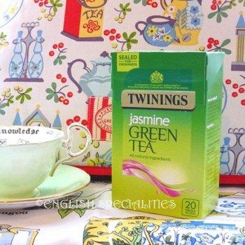 【Twinings】 Green Tea Jasmine  <br>トワイニング グリーンティー ジャスミン: 20ティーバッグ