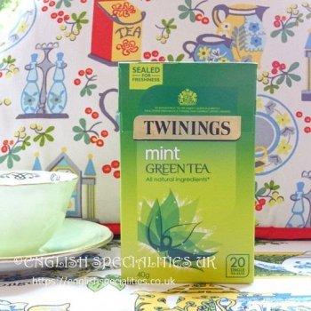 【Twinings】Mint Green Tea <br>トワイニング グリーンティー  ミント: 20バッグ