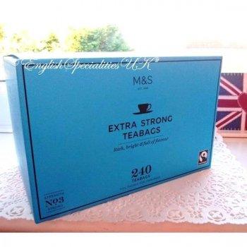 【M&S】Extra Strong 240bags<br>マークス&スペンサー エクストラストロング紅茶 :240ティーバッグ