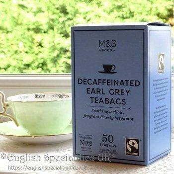 【M&S】DECAF Earl Grey 50 Teabags<br>マークス&スペンサー ディカフェ アールグレイ:50ティーバッグ