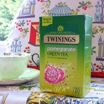 【Twinings】 Green Tea Pomegranate<br>トワイニング グリーンティー  ポメグラネイト: 20ティーバッグ