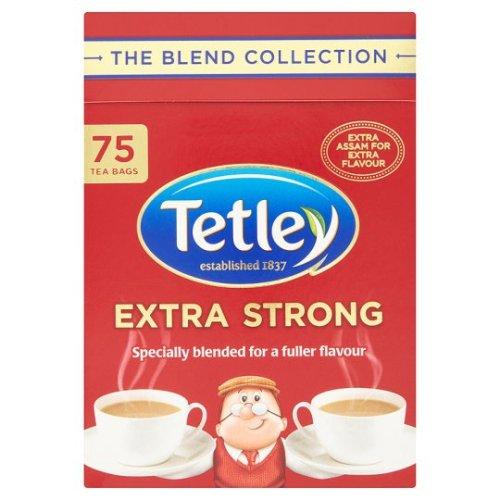 【Tetley】 Extra Strong 75 Teabags テトリー 紅茶 エクストラストロング: 75 ティーバッグ