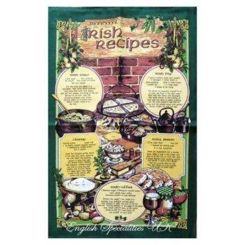 【Samuel Lamont】Irish Recipes Tea Towel<br>アイリッシュレシピ リネンユニオンティータオル