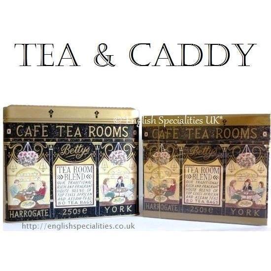 【Bettys】Tea Caddy & 80 Teabagsベティーズ紅茶&ティーキャディー 80ティーバッグ