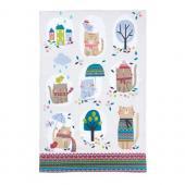 【Ulster Weavers】Cozy Cats Styled Cotton Tea Towel<br>コージーキャッツ  コットンティータオル