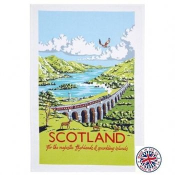 【Ulster Weavers】Kelly Hall Scotland Cotton Tea Towel<br>ケリーホール スコットランド ティータオル