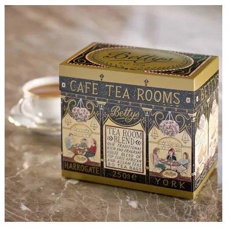 【Bettys】Bettys Tea Room Blend Tea - 80 Tea Bagsベティーズティールームブレンド80ティーバッグ(紙パッケージ入り)