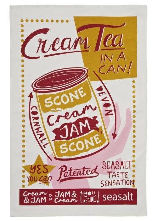 【Ulster Weavers】Seasalt Cream Tea Cotton Tea Towelシーソルト クリームティー コットンティータオル