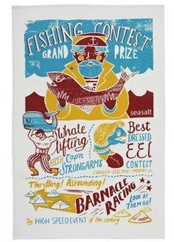 【Ulster Weavers】Seasalt Fishing Contest Cotton Tea Towel<br>シーソルト フィッシングコンテスト コットンティータオル