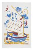 【Ulster Weavers】Seasalt Fowey Sail Boat Cotton Tea Towel<br>シーソルト フォウェイ セールボート コットンティータオル