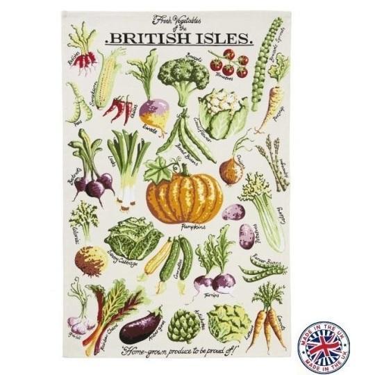 【Ulster Weavers】Kelly Hall Fresh Vegetables Cotton Tea Towelケリーホール フレッシュベジタブルズ ティータオル