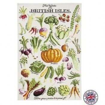 【Ulster Weavers】Kelly Hall Fresh Vegetables Cotton Tea Towel<br>ケリーホール フレッシュベジタブルズ ティータオル(英国製)