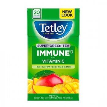 【Tetley】Super Green Tea - Tropical Fruit Tea Bags<br>テトリー スーパーグリーンティー トロピカルフルーツ(スーパー緑茶)