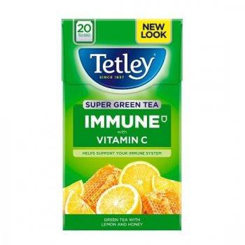【Tetley】Super Green Tea Bags - Lemon & Honey<br>テトリー スーパーグリーンティー レモン&ハニー(スーパー緑茶)