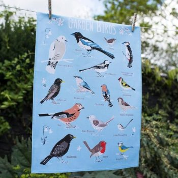 【dotcomgiftshop】Garden Birds TEA TOWEL<br> ガーデンバース ティータオル