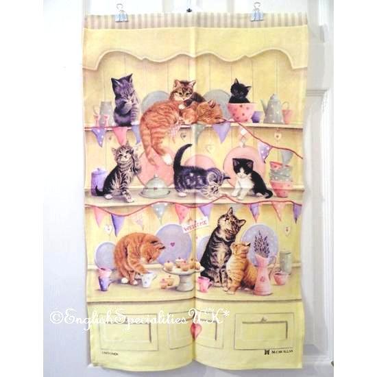 【McCAW ALLAN】Dresser Kittens Linen Union Tea Towel マッコウアラン ドレッサー キトゥン リネンユニオン ティータオル