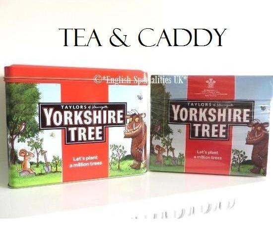 【Yorkshire Tea】Yorkshire Tree Tea Caddy & 80 Teabagsヨークシャーツリーグラッファロティーキャディー&ヨークシャー…