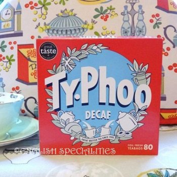 【Typhoo】 80 Teabags Decaf<br>タイフー紅茶 ディカフェ 80ティーバッグ