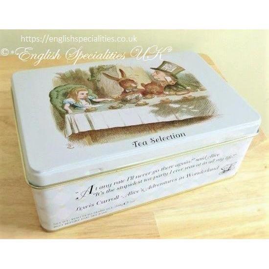 【New English Teas】 Alice in Wonderland Tea Tinsニューイングリッシュティー 不思議の国のアリス缶 セレクション紅茶100ティーバッグ