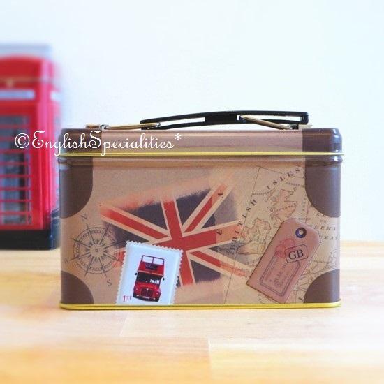 ★Sale!【New English Teas】Suitcase Tin English Breakfast  Teabag スーツケース缶 イングリッシュブレックファースト紅茶ティーバッグ
