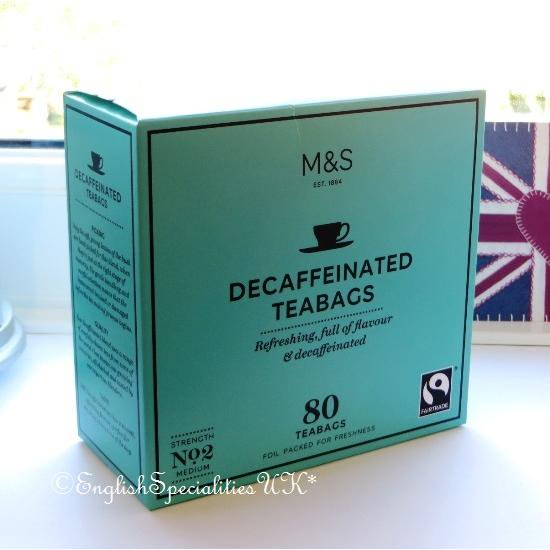 【M&S】Fairtrade Decaf 80 Teabagsマークス&スペンサー ディカフェ紅茶:80ティーバッグ
