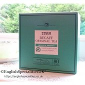 【Tesco】 Decaf Tea 80 Teabags<br>テスコ ディカフェ紅茶  : 80 ティーバッグ