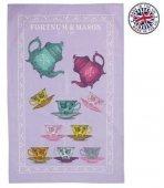 【F&M】Teapots & Teacups  Tea Towel <br>フォートナム&メイソン ティーポット&カップ ティータオル