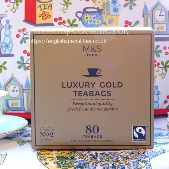 【M&S】Luxury Gold 80 Teabagsマークス&スペンサー 紅茶 ゴールド:80ティーバッグ