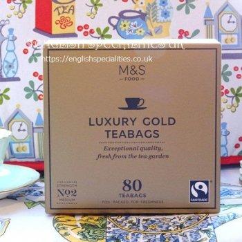 【M&S】Luxury Gold 80 Teabags<br>マークス&スペンサー 紅茶 ゴールド:80ティーバッグ