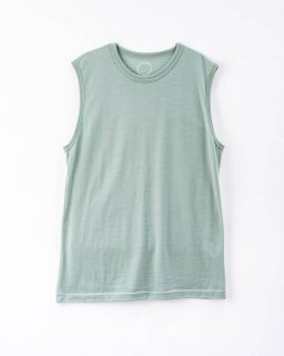 Light Merino Sleeveless T-shirt  Granite Green